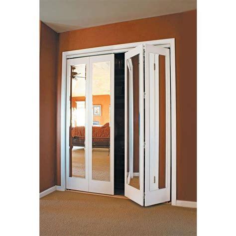 Mirrored-Bifold-Closet-Doors-Home-Depot
