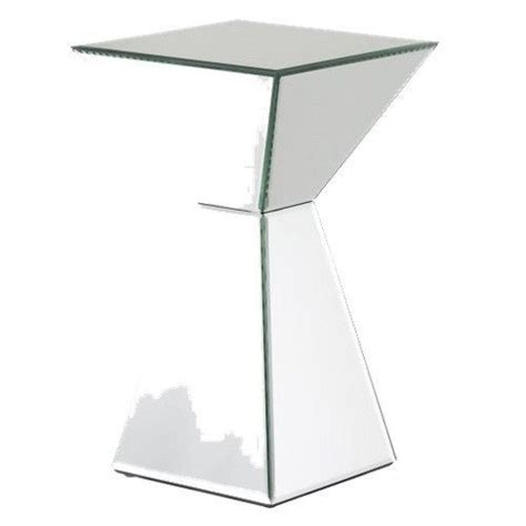 Mirrored-Pyramid-Living-Room-Accent-Side-End-Table