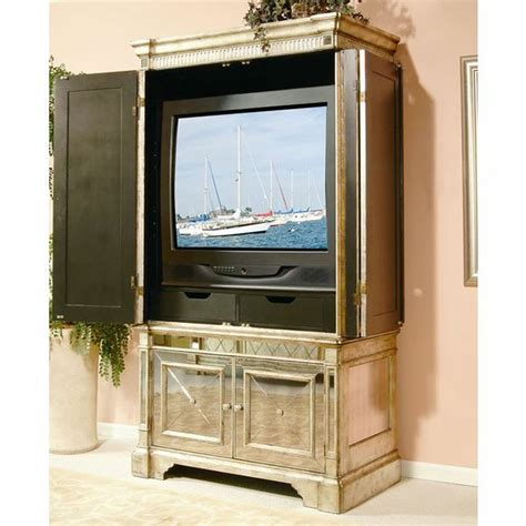 Mirrored-Tv-Armoire