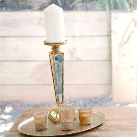 3 Piece Pillar Resin Candlestick Holder Set