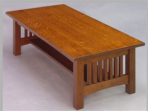 Mission Oak Coffee Table Plans