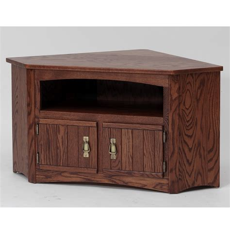 Mission Style Corner Plasma Tv Stand Woodworking
