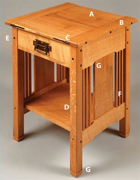 Mission style nightstand woodworking plans Image