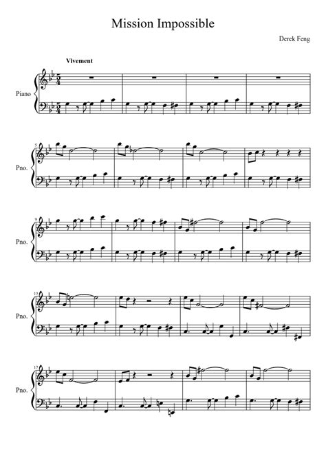 Mission Impossible Partition Piano Pdf And Perfect Piano Guys Sheet Music Pdf