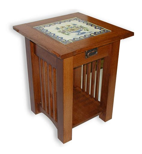 Mission-Style-End-Table-Woodworking-Plans