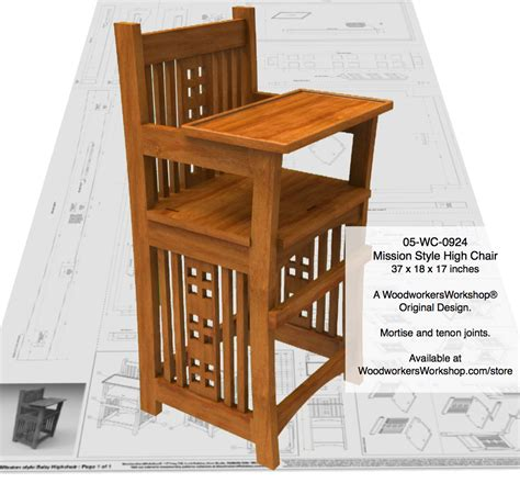 Mission-Style-High-Chair-Plans