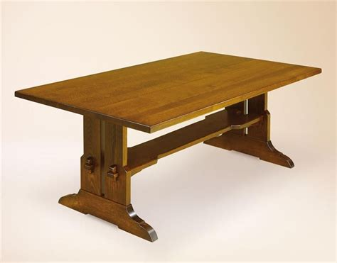 Mission-Style-Trestle-Dining-Table-Plans
