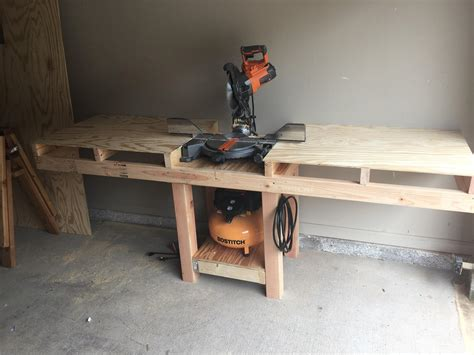 Miter Saw And Table Saw Shelf Dividers