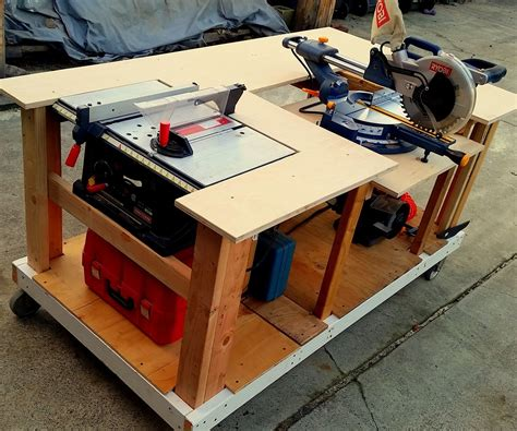Miter Saw And Table Saw Workbench Plans