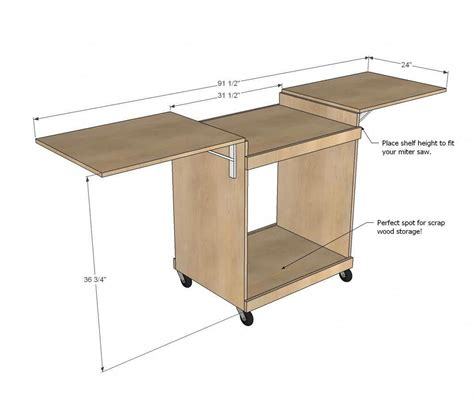 Miter Saw Stand Plans Ana White