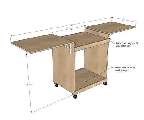 Miter Saw Stand Plans For Free