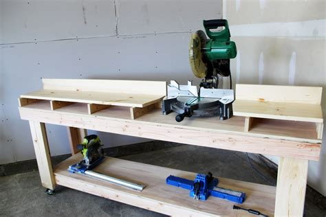 Miter Saw Workbench Diy Construction