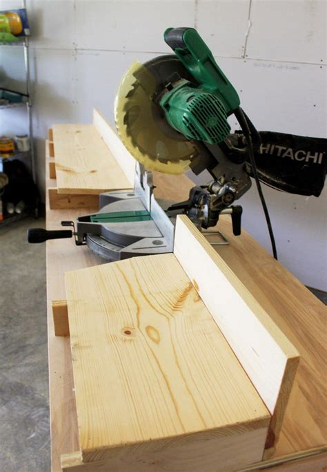Miter Saw Workbench Diy With Back