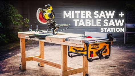 Miter Saw Workbench Diy Youtube