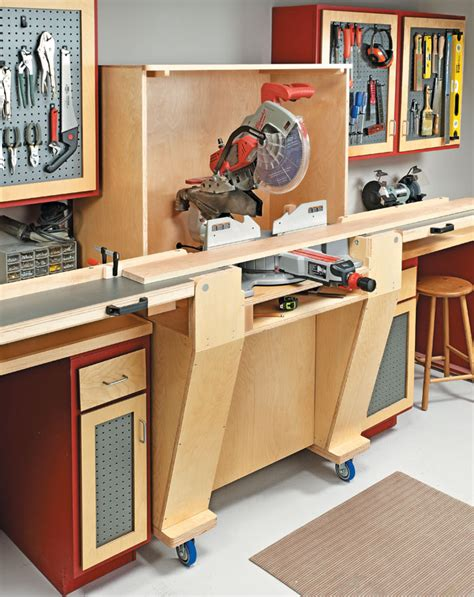 Miter Saw Workstation Designs