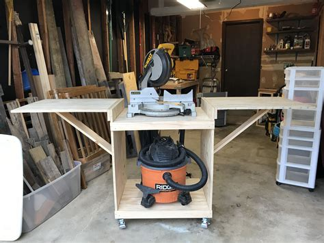 Miter-Saw-Table-Saw-Cart-Combo-Diy