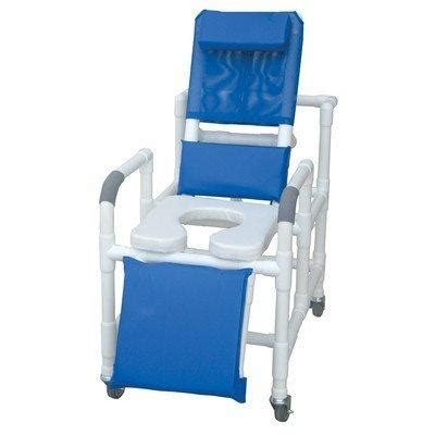 Mjm Pvc 193 Ssde Medical Reclining Rolling Shower Chair