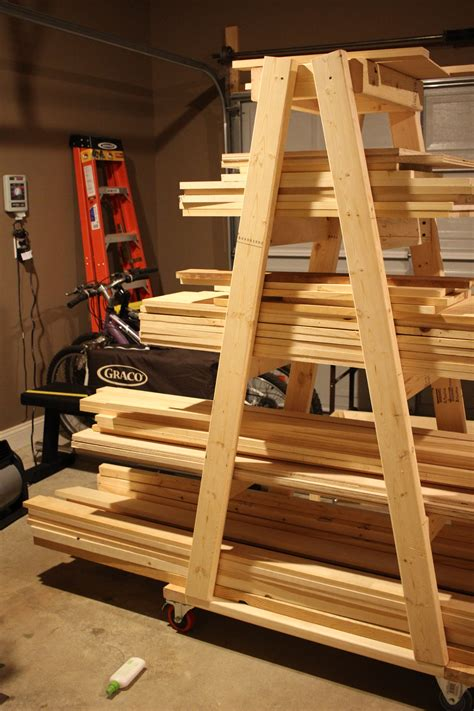 Mobile Lumber Storage Rack Plans Youtube