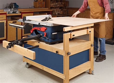 Mobile Table Saw Cabinet Plans