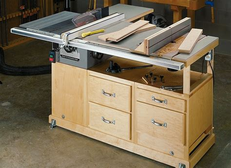 Mobile Table Saw Station Plans