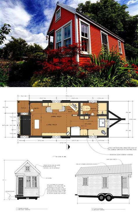 Mobile Tiny House Floor Plans Up To 18 Feet Pool