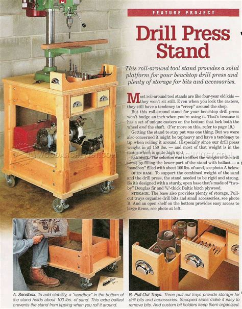 Mobile-Drill-Press-Stand-Plans
