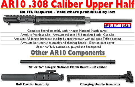 Model 1 Sales Ar10 308 Caliber Barrel.