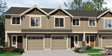 Modern Californian Fourplex Plans With Garage