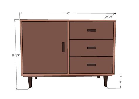 Modern Dresser Woodworking Plans