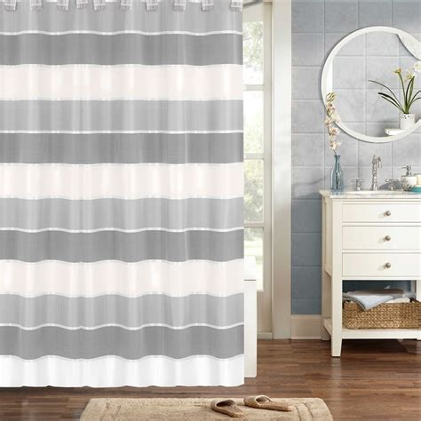 Modern Fabric Shower Curtain By Sweet Home Collection
