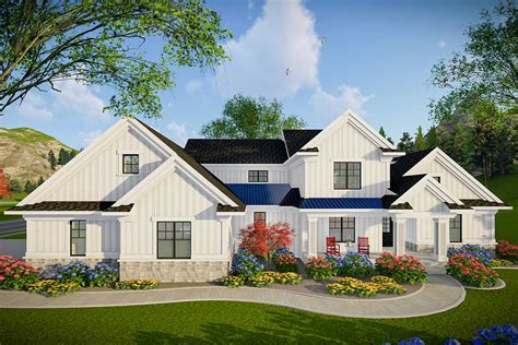 Modern Farmhouse Plans With Attached Garage
