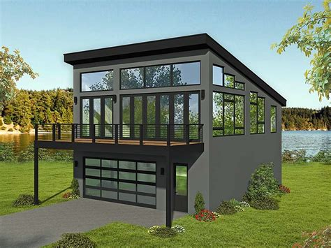 Modern Style Garage With Apartment Plans
