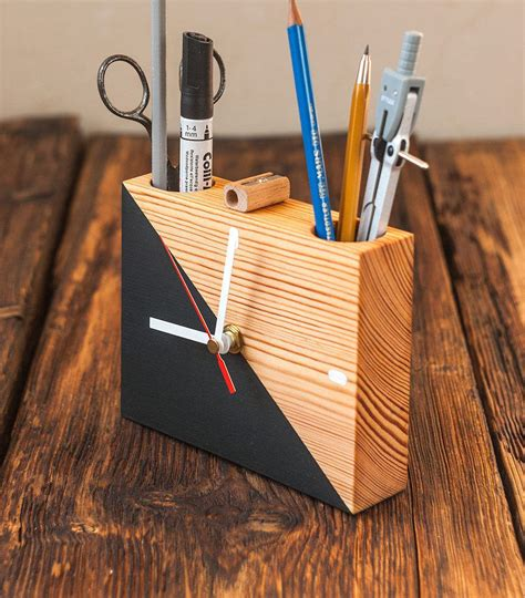Modern Wood Desk Diy Organizer