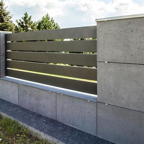 Modern Wood Fence Designs On Concrete