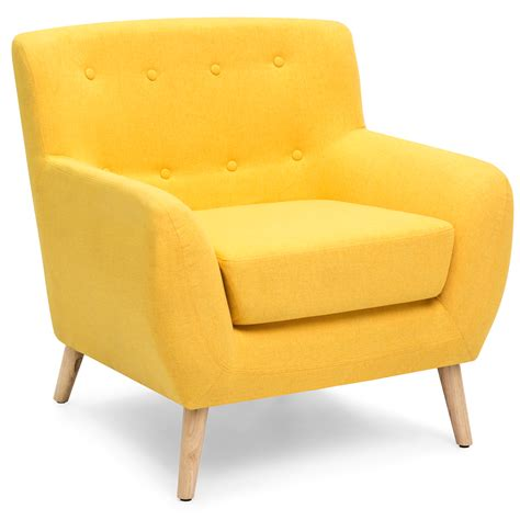 Modern Yellow Accent Chair