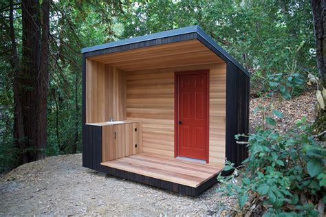 Modern outhouse construction Image