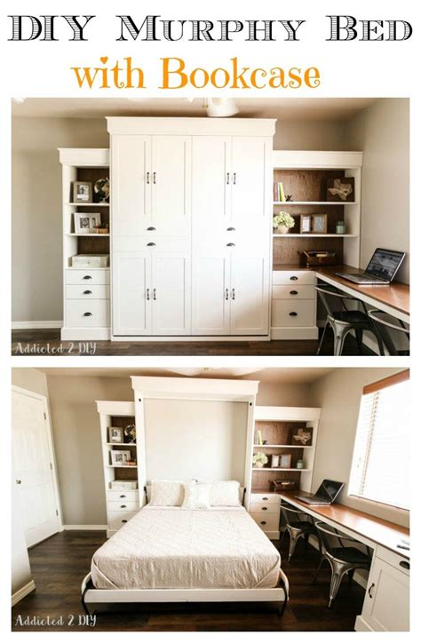 Modern-Farmhouse-Murphy-Bed-With-Bookcase