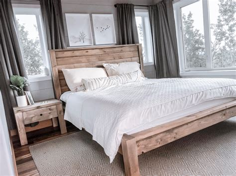 Modern-Farmhouse-Wood-Bed
