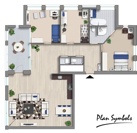 Modern-House-Floor-Plan-With-Furniture