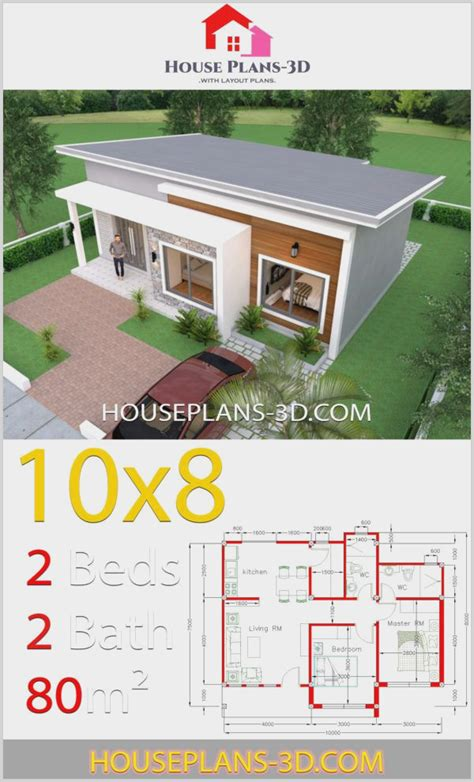 Modern-Shed-Roof-2-Bedroom-House-Plans