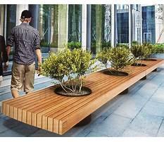 Best Modern planter bench
