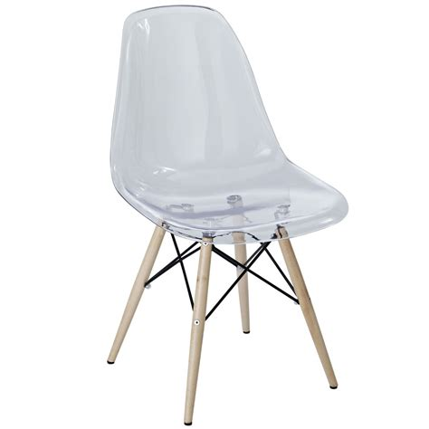 Modway Pyramid Dining Side Chair In Clear