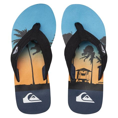 Molokai Layback Flip Flops - Black/Red/Blue UK 10