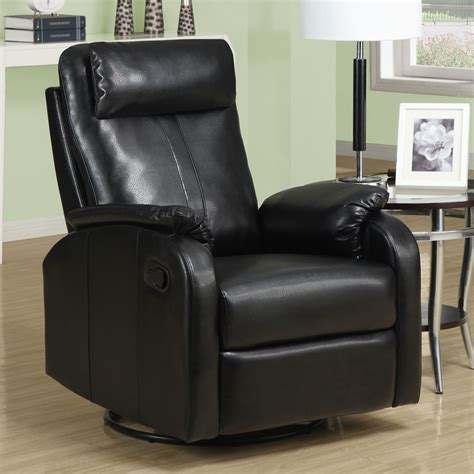 Monarch Leather Swivel Rocker Recliner