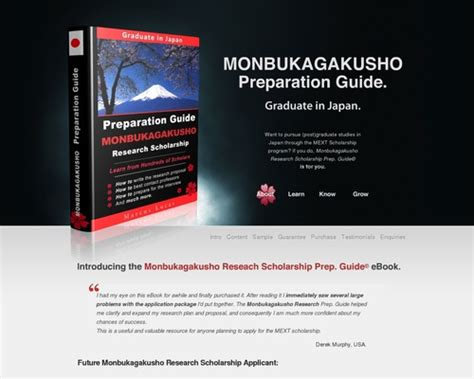[click]monbukagakusho Research Scholarship Prep Guide  Ebook.