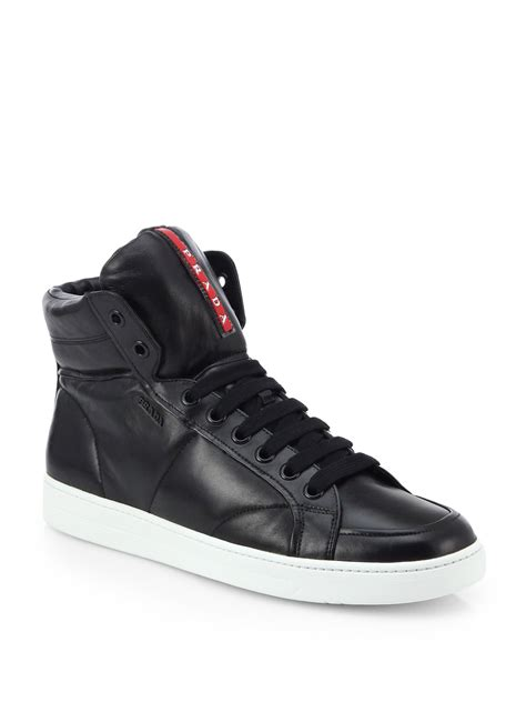 Mono Hi Men's Hi-Top Leather Sneaker