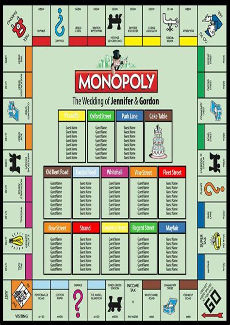 Monopoly-Wedding-Table-Plan