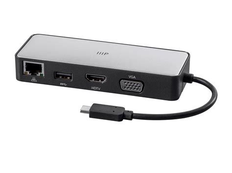 Monoprice USB-C to HDMI, VGA, USB 3.0, RJ45 Gigabit Ethernet and USB-C Female Travel Dock