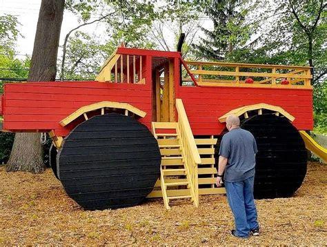 Monster-Truck-Playhouse-Plans