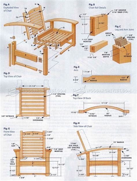 Morris-Chair-Ottoman-Plans